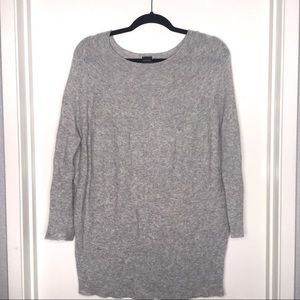 50%off‼️ PINKO Grey Knit 3/4 sleeve Tunic Top Sm